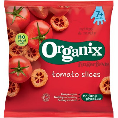 Pomidorų skonio kukurūzų griežinėliai kūdikiams nuo 7 mėn., ekologiški (20 g)