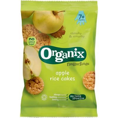 Ryžių trapučiai su obuoliais ir cinamonu kūdikiams nuo 7 mėn., ekologiški (50 g)