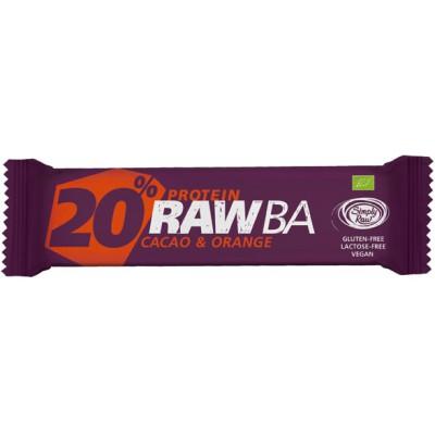 Baltymų batonėlis su kakava ir apelsinais, ekologiškas (40 g)
