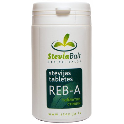 Steviolio glikozido pagrindu sudarytas saldiklis, tabletės REB-A (600 tabl. x 60 mg)