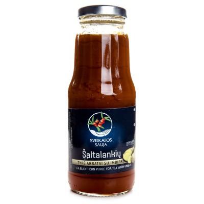 Šaltalankių tyrė arbatai su imbieru (750 ml)