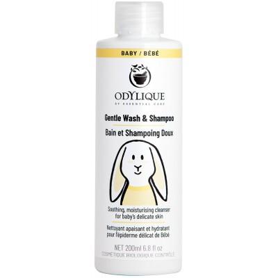 Švelnus prausiklis ir šampūnas kūdikiams, ekologiškas (200 ml)