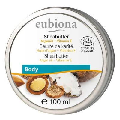 Sviestmedžių ir arganų kūno sviestas su vitaminu E, ekologiškas (100 ml)