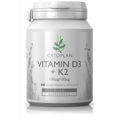 Vitaminas D3 + K2. Maisto papildas (60 kaps.)