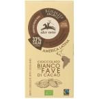 Baltasis šokoladas su kakavos pupelėmis, ekologiškas (100 g)