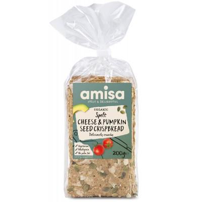 Duoniukai su sūriu ir moliūgų sėklomis, ekologiški (200 g)
