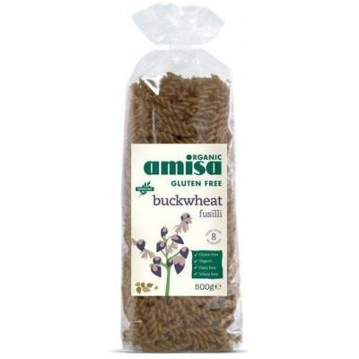 Grikių makaronai FUSILLI, ekologiški (500 g)