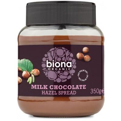 Pieniško šokolado ir lazdyno riešutų kremas, ekologiškas (350 g)
