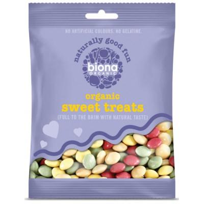 Šokoladiniai dražė saldainiai, ekologiški (60 g)