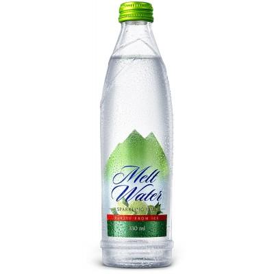 Gazuotas ledo tirpsmo vanduo LIME (330 ml)