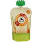 Obuolių, morkų ir abrikosų tyrelė, ekologiška (100 g)