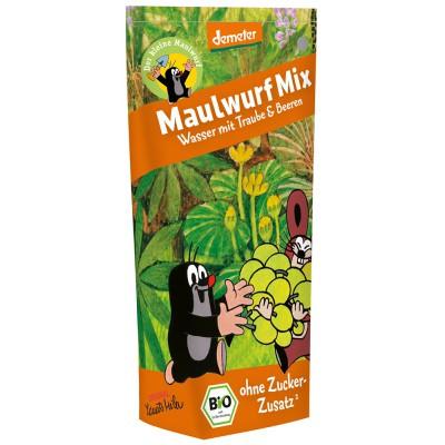 Vynuogių ir uogų sulčių gėrimas MAŽASIS KURMIS, biodinaminis (200 ml)
