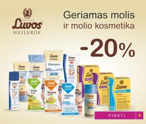 -20% Luvos® geriamam moliui ir molio kosmetikai
