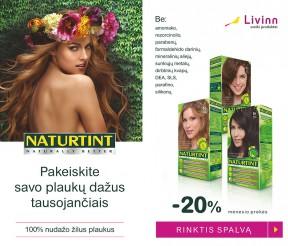 Vasario mėnesio akcija – NATURTINT® plaukų dažams -20%