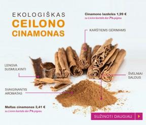 Ekologiškas Ceilono cinamonas