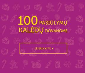 100 pasiūlymų Kalėdų dovanoms!