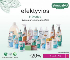 """Mėnesio akcija – """"Almacabio"""" ekologiškoms švaros priemonėms -20%"""