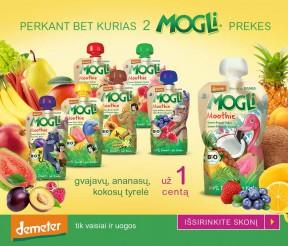 Perkant bet kurias 2 MOGLI prekes, gvajavų, ananasų, kokosų tyrelė tik už 1 centą