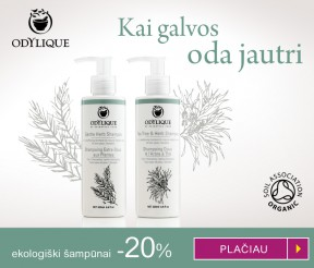 "-20% ekologiškiems šampūnams ""Odylique"""