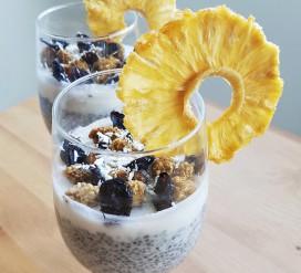 Sveikas desertas – chia ir kokosų pudingas