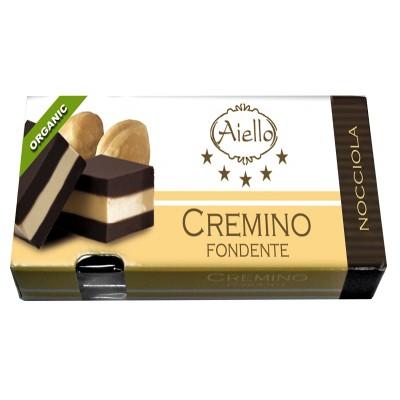 Juodojo šokolado saldainiai CREMINO, ekologiški (60 g)