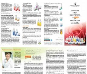 """Biodinaminė kosmetika """"Martina Gebhardt"""" – lankstinukas"""