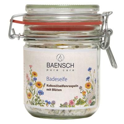 """Kokosų aliejaus muilo drožlės su žiedlapiais voniai """"Baensch"""" (100 g)"""