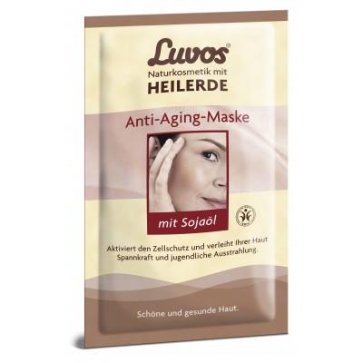 """Luvos® molio kaukė """"anti-aging"""" su sojų aliejumi (2 vnt. x 7.5 ml)"""