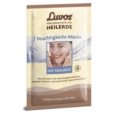 Drėkinamoji Luvos® molio kaukė su migdolų aliejumi (2 vnt. x 7.5 ml)