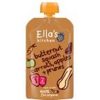Kvapiųjų moliūgų, morkų, obuolių, slyvų tyrelė kūdikiams nuo 4 mėn., ekologiška (120 g)