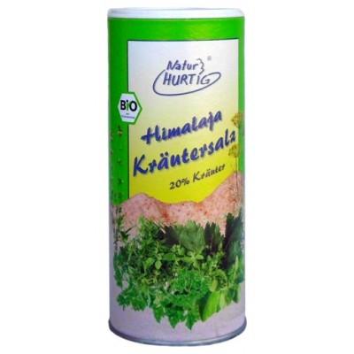 Himalajų druska su žolelėmis, smulki, ekologiška (160 g)