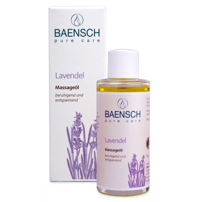 """Masažo aliejus su levandomis """"Baensch"""", ekologiškas (100 ml)"""