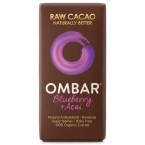 Juodasis šokoladas su acai ir mėlynėmis, ekologiškas (35 g)