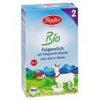 BIO 2 tolesnio maitinimo ožkos pieno mišinys kūdikiams, vyresniems kaip 6 mėnesiai, ekologiškas (400 g)