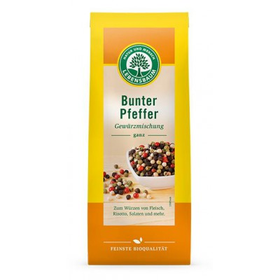 Spalvoti pipirai grūdeliais, ekologiški (50 g)